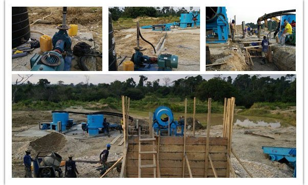 100TPH Gold wash plant in Ghana 02