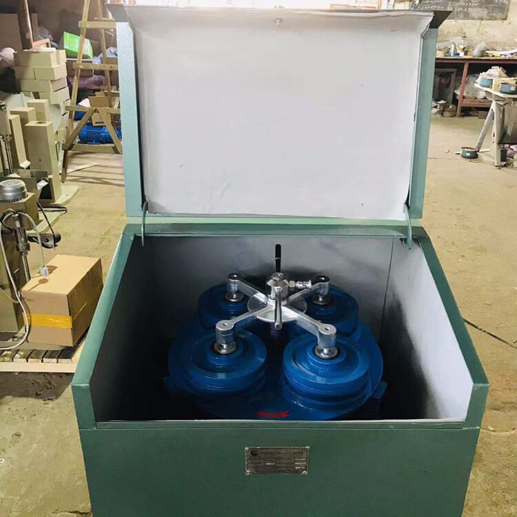 ring and puck pulverizer with 4 grinding bowl