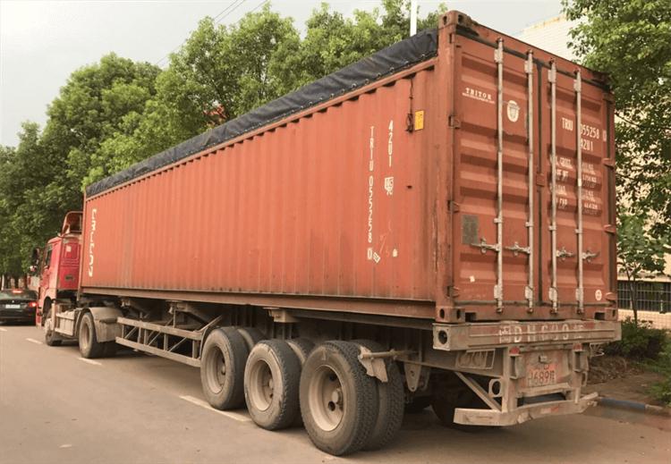 Trommel Scrubber load into OT-container
