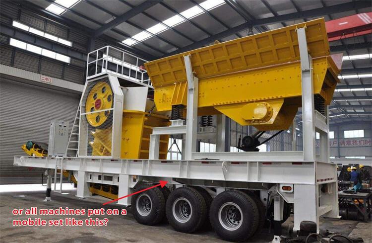 all machine in a mobile trailer